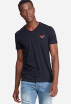 Superdry. - Orange label vintage embroidery vee tee