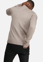basicthread - High neck chunky knit