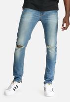 basicthread - Skinny knee rip jeans