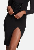 Missguided - Lightweight slinky corset detail bodycon dress