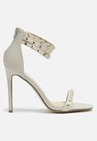 Missguided - Studded ankle strap heel