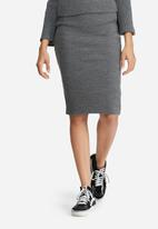 dailyfriday - Ribbed tube skirt