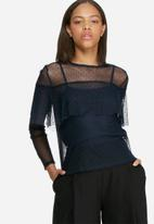 dailyfriday - Mesh frill blouse