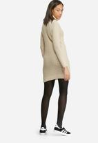 dailyfriday - Roll neck cable knitwear dress