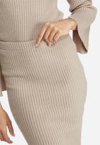 dailyfriday - Ribbed tube skirt