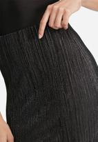 Missguided - Glitter crinkle midi skirt
