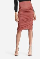 Missguided - Slinky ruched side midi skirt