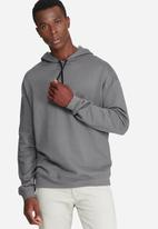 basicthread - Oversized drop shoulder pullover hoodie sweat