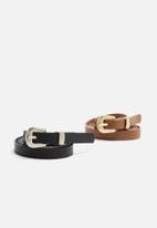 dailyfriday - 2 Pack Leather belt