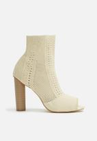 dailyfriday - Knitted sock peep toe bootie