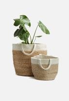 Sixth Floor - Jute & cotton basket