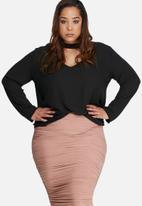 Missguided - Plus size choker blouse