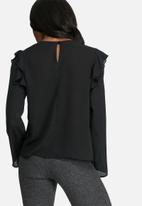 dailyfriday - Shoulder frill shell top