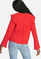 dailyfriday - Shoulder frill shell top