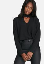 dailyfriday - Long sleeve choker blouse