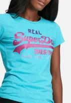 Superdry. - Vintage logo tri entry tee