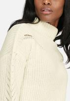 dailyfriday - Ribbed funnel neck knit