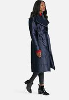dailyfriday - Longer Length belted padded coat