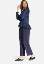 dailyfriday - Asymmetric peplum blouse
