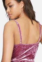 Glamorous - Plunge velvet bodysuit