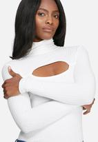 dailyfriday - Cutout turtle neck top