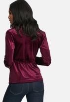 dailyfriday - Velvet wrap blouse