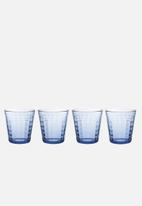 Duralex - Prisme Marine tumblers - 275ml set of 4