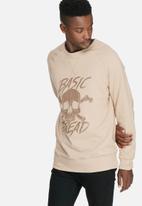 basicthread - Graphic pullover crew sweat