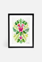Cat Coquillette - Tropical symmetry pink and green