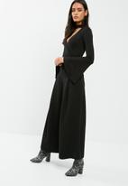 dailyfriday - Bell sleeve wrap front bodysuit