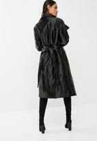 dailyfriday - Longer length belted padded coat