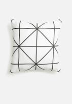 Sixth Floor - Diamond cushion cover - black