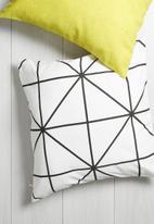 Sixth Floor - Diamond cushion cover - black