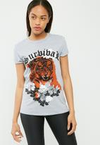 Missguided - Tiger graphic t-shirt