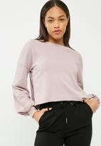 Missguided - Embroidered side split washed sweatshirt