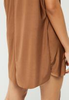 Missguided - Oversized slinky dress