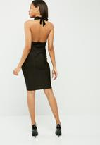 Missguided - Slinky cowl neck midi dress