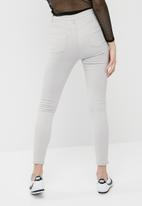 Missguided - Sinner high waisted ripped skinny jeans