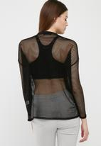 Missguided - Fishnet long sleeve top