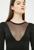dailyfriday - Mesh inset bodysuit
