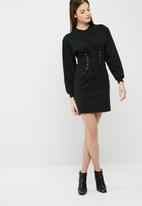 dailyfriday - Lace up sweat dress