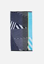 Sixth Floor - Blue illusions beach towel