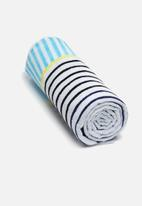 Sixth Floor - Nautical Striped beach towel