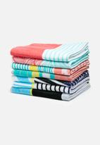 Sixth Floor - Gradual grid beach towel