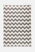 Sixth Floor - Chehalis printed rug - grey