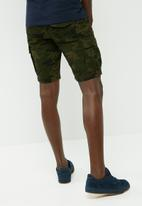 PRODUKT - Canvas cargo shorts