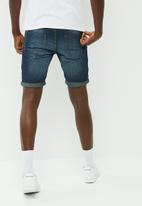 PRODUKT - Medium blue shorts