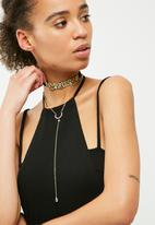 dailyfriday - Flower choker and chain pack