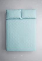 Sixth Floor - Polycotton fitted sheet - duck egg