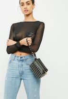 Missguided - Mini stud cross body camera bag